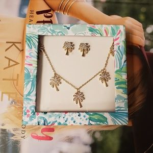 Lilly Pulitzer Sparkling Palm Trees Jewelry Set